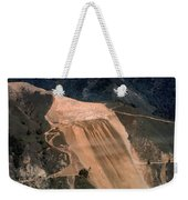 Aerial Of Mcway Landslide Big Sur California 1984 Weekender Tote Bag