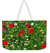 Meadow Flowers - Digital Oil Weekender Tote Bag