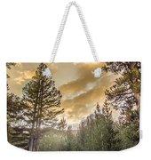 Meadow Sunset Gold Weekender Tote Bag