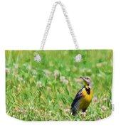 Meadowlark In The Wildflowers Weekender Tote Bag