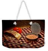 Meager Lunch Weekender Tote Bag