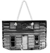 Meat And Cheese Market Black And White Weekender Tote Bag