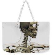 Medical Illustration Of A Womans Skull Weekender Tote Bag by Stocktrek Images