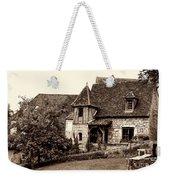 Medieval Cottage In Sarlat Sepia Weekender Tote Bag