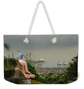 Meditating Buddha Views Container Seaport Singapore Weekender Tote Bag