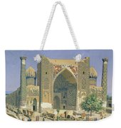 Medrasah Shir-dhor At Registan Place In Samarkand, 1869-70 Oil On Canvas Weekender Tote Bag
