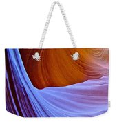 Meeting Of The Curves In Lower Antelope Canyon In Lake Powell Navajo Tribal Park-arizona  Weekender Tote Bag