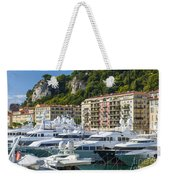 Mega Yachts In Port Of Nice France Weekender Tote Bag