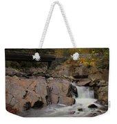 Meigs Falls In Autumn Weekender Tote Bag