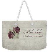 Melancholy Weekender Tote Bag