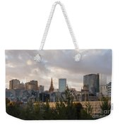 Melbourne Cityscape Weekender Tote Bag