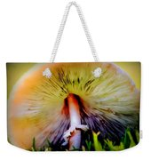 Mellow Yellow Mushroom Weekender Tote Bag by Karen Wiles
