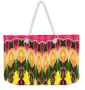 Melting Lily And Chrysanthemums Abstract Weekender Tote Bag