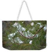 Melting Snow In The Pines Weekender Tote Bag