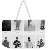 Members Of The British Antarctic Expedition At The Start Of The Journey Weekender Tote Bag