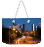 Memorial Drive And Houston Skyline Weekender Tote Bag