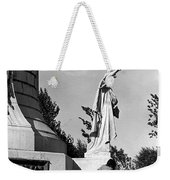 Memorial Statue Children Playing Juarez Chihuahua Mexico 1977 Black And White Weekender Tote Bag