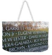 Memorialized Weekender Tote Bag