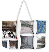 Memories Of Winter - A Collage Weekender Tote Bag