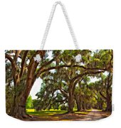 Memory Lane Oil Weekender Tote Bag