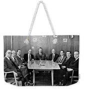 Men At A Business Meeting Weekender Tote Bag
