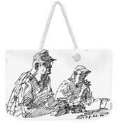 Men At The Bar Weekender Tote Bag