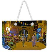 Men In The Spice Market In Aswan-egypt  Weekender Tote Bag