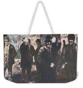 Men In Yellow Light Weekender Tote Bag