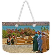 Men On Philae Island In Aswan-egypt  Weekender Tote Bag
