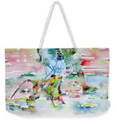 Men With Chained Monkey Weekender Tote Bag