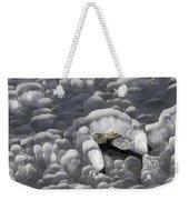 Mendenhall Lake Ice Abstract Weekender Tote Bag
