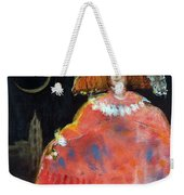 Menina And Cathedral Oil & Acrylic On Canvas Weekender Tote Bag