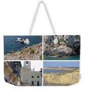 Menorca Collage 02 - Labelled Weekender Tote Bag