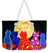Meowing At Midnight Weekender Tote Bag