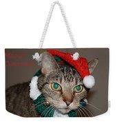 Meowy Christmas Weekender Tote Bag