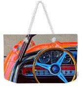 Mercedes-benz 300 Sl Steering Wheel Emblem Weekender Tote Bag