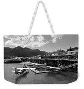 Merchants Wharf In Black And White Weekender Tote Bag