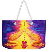 Mercy Weekender Tote Bag by Nancy Cupp