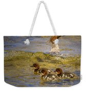 Merganser Lake Tahoe Weekender Tote Bag