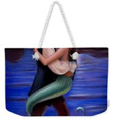 Mermaid And Pirate's Caribbean Love Weekender Tote Bag