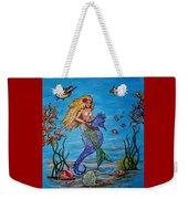 Mermaid And Seahorse Morning Swim Weekender Tote Bag