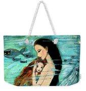 Mermaid Mother And Child Weekender Tote Bag