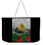Mermaid Sailboat Flowers Cathy Peek Fantasy Art Weekender Tote Bag