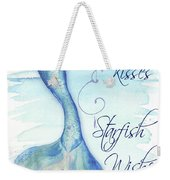 Mermaid Tail I (kisses And Wishes) Weekender Tote Bag