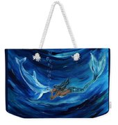 Mermaids Dolphin Buddy Weekender Tote Bag