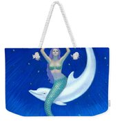 Mermaids- Dolphin Moon Mermaid Weekender Tote Bag