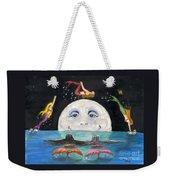 Mermaids Jumping Over Moon Cathy Peek Weekender Tote Bag