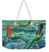 Mermaids On The Rocks Weekender Tote Bag