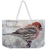 Merry Christman Finch Greeting Card Weekender Tote Bag