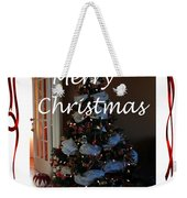 Merry Christmas - Greeting Card - Christmas Tree - Ribbons Weekender Tote Bag